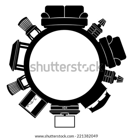 Vector sign. Furniture. - stock vector