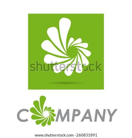 Vector sign Green Vortex  - stock vector
