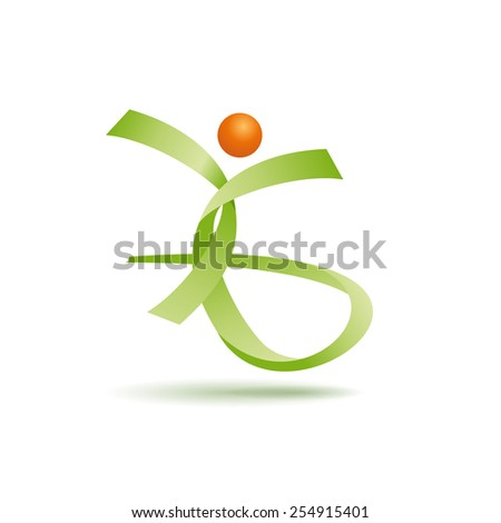 Vector sign happy people, with strips - stock vector