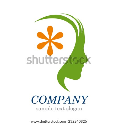 Vector sign Head with asterisk - stock vector