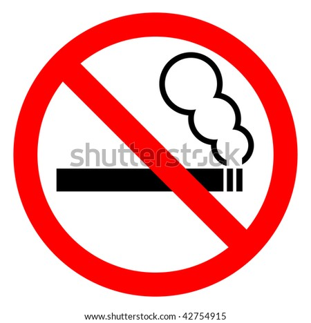 "Vector sign ""No smoking"" - stock vector"