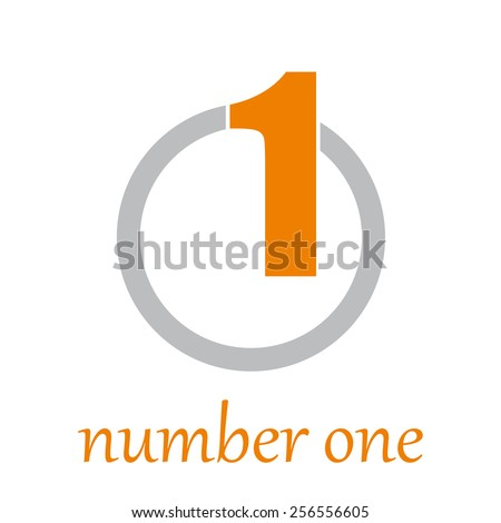 Vector sign number one on the circle - stock vector