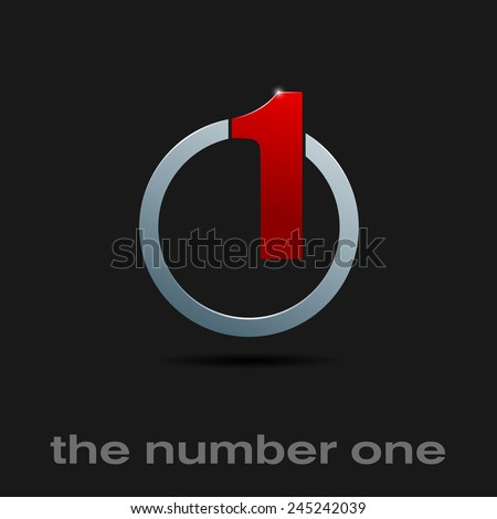 Vector sign number one, the best - stock vector