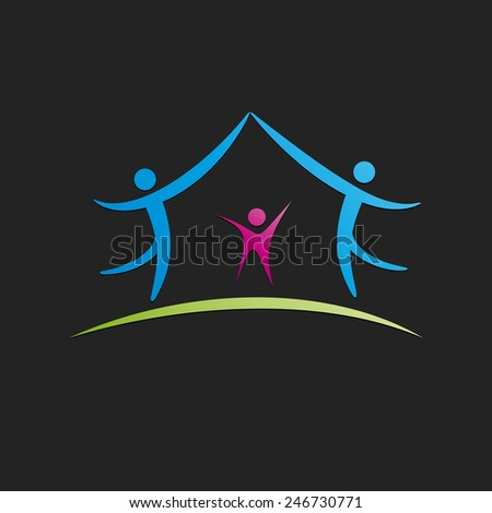 Vector sign Sweet Home, black background - stock vector
