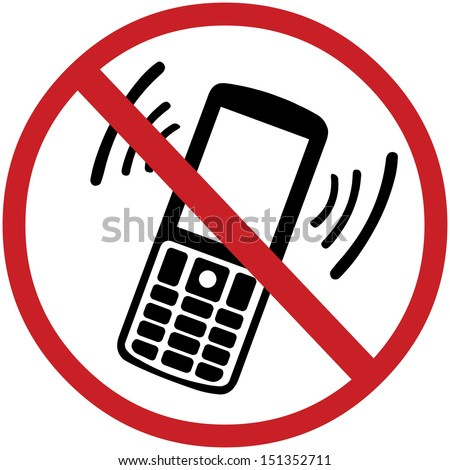 vector sign:  turn off your mobile phone - stock vector