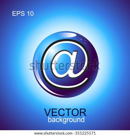 Vector sign web. Blue 3d logo design. Eps 10. - stock vector