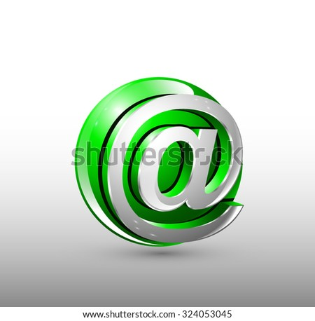 Vector sign web. Green 3d logo design. Eps 10. - stock vector