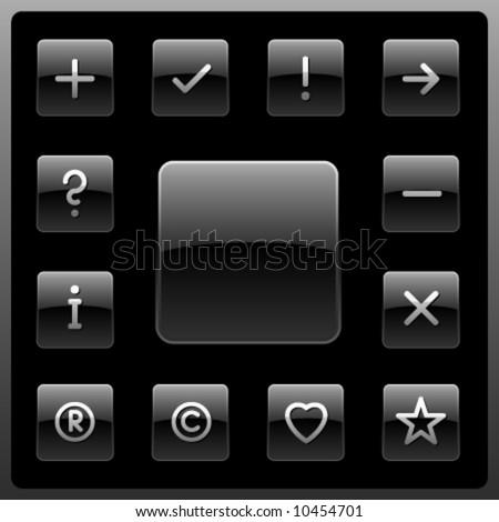 Vector signs icon set - stock vector