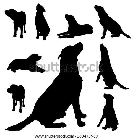 Dog Sitting Silhouette Stock Images, Royalty-Free Images ...