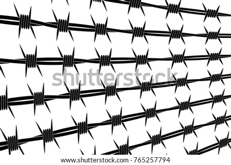 Different Types Of Lines In Art Drawing : Vector silhouette barbed wire lines types stock