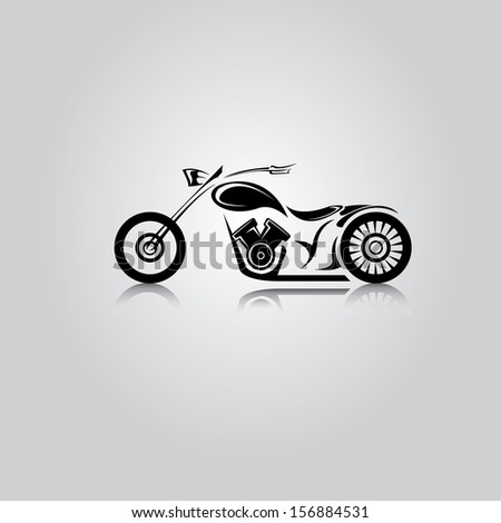 vector Silhouette of classic motorcycle. motorcycle icon - stock vector