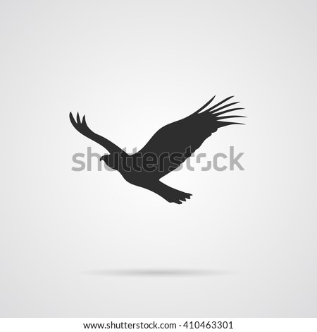 Vector Silhouette of Eagle. Element for, World Environment Day, and other animal and ecology holidays projects. - stock vector