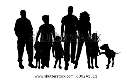 Family Silhouette Stock Images, Royalty-Free Images ...