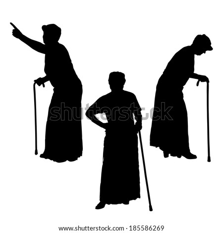 old woman with a cane stock images, royalty-free images & vectors