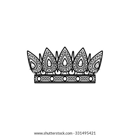 Vector silhouette royal crown icon from crown collection