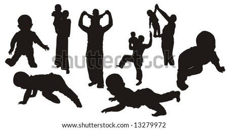 Vector-silhouettes - stock vector