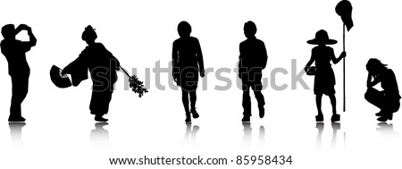 Vector Silhouettes. - stock vector
