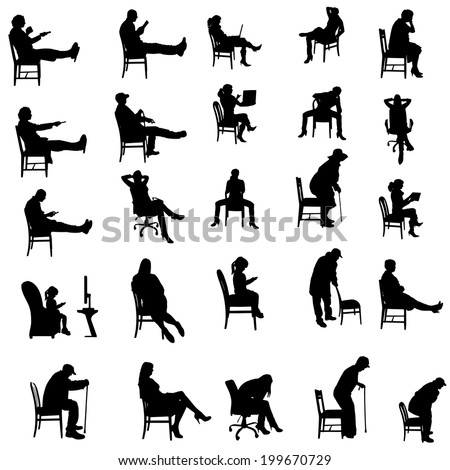 Desk silhouette stock images royalty free images for Sedute dwg