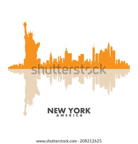 Vector silhouettes of the  city - stock vector
