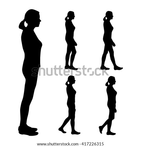 Man standing silhouette side view