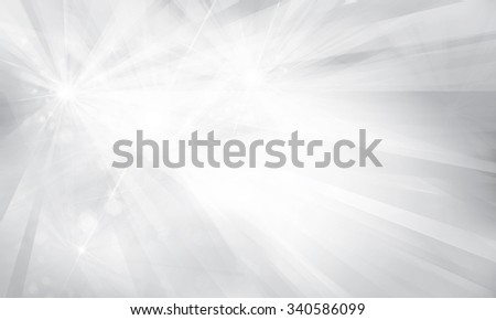 Vector silver background with rays and lights. - stock vector