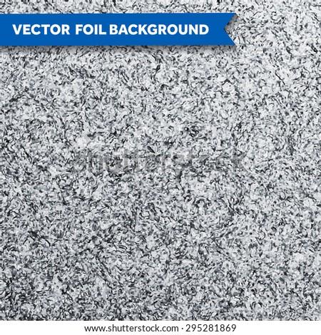 Vector silver glittering foil texture - stock vector