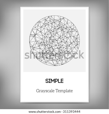 Vector Simple A Brochure Template Abstract Stock Vector - Simple brochure template