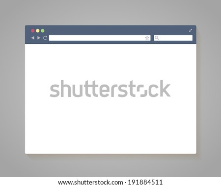 Vector Simple Browser Window in flat style - stock vector
