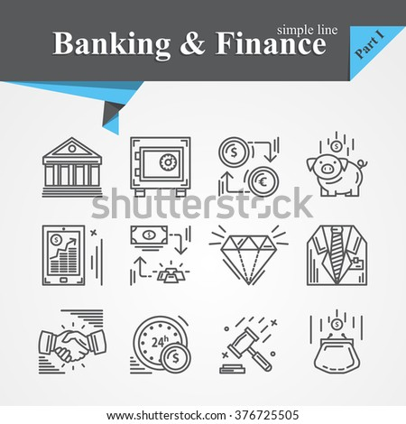 Vector Simple line Banking and Finance icon mobile banking,savings,internet payment security,savings, partnership,online banking,online services,exchange,cash For apps,websites, developers,designers. - stock vector