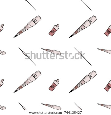 Vector simple pattern equipment permanent makeup stock photo photo vector simple pattern of equipment for permanent make up used for backgrounds on the colourmoves
