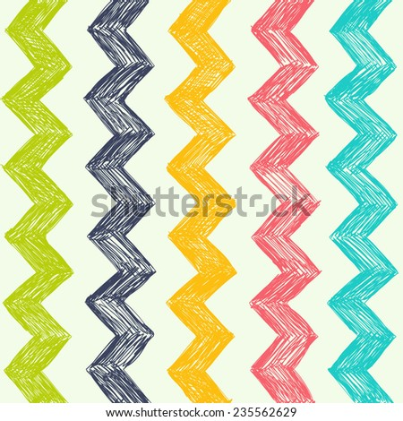 Vector simple pattern with zag zag. Background can be used for wallpapers, pattern fills, web page backgrounds, surface textures. - stock vector