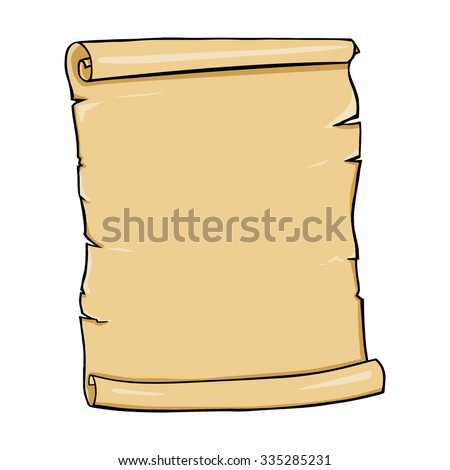 Vector Single Cartoon Scroll - stock vector