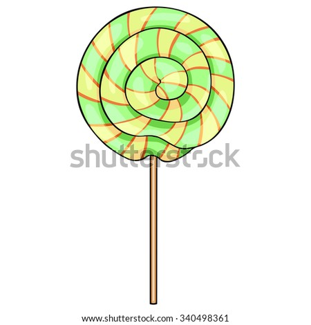 Vector Single Cartoon Swirl Lolipop