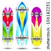 Vector skateboard boards ( abstract colorful designs ) - stock vector