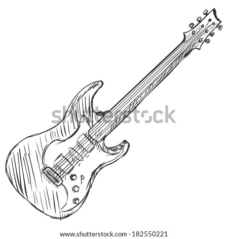 Vector Sketch Electric Guitar
