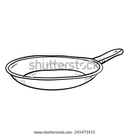 Vector sketch hand drawn illustration of doodle pan - stock vector