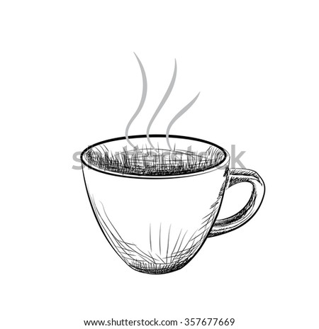 how to draw and coffee and tea