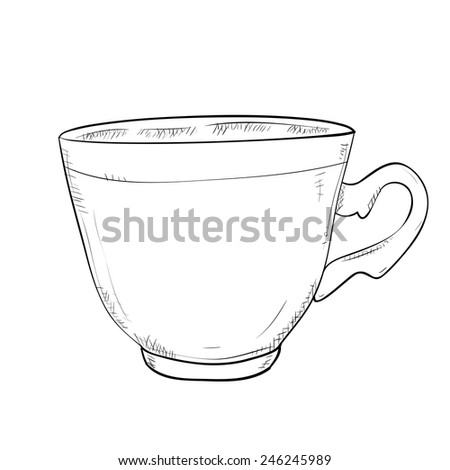 Vector sketch illustration of cup