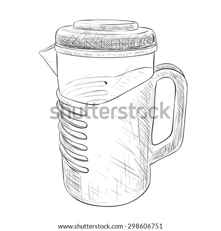 Vector sketch of carafe. Hand draw illustration.