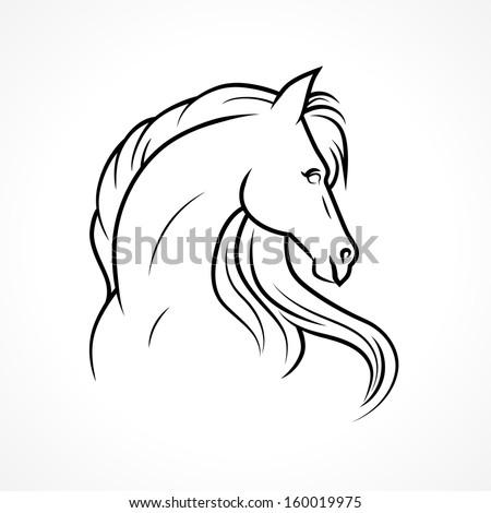 Vector sketch of horse - stock vector