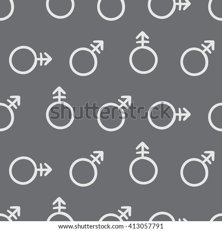 Vector sketch pattern of a symbol transgender. Hand drawn creative background - stock vector