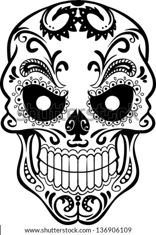 Vector skull artwork - stock vector