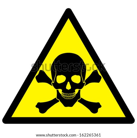 vector skull danger sign - stock vector