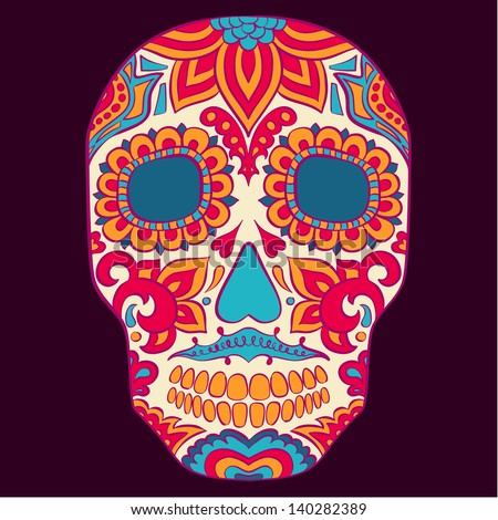 Vector skull design template - stock vector