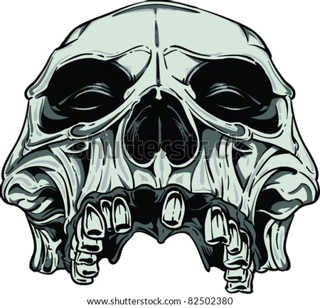 Vector Scary Skulls Stock Photos, Images, & Pictures ...