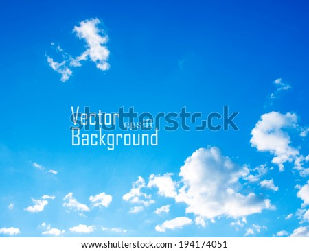 Vector sky. Sky with clouds. - stock vector