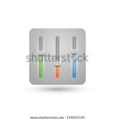 Vector slide elements for music player - stock vector
