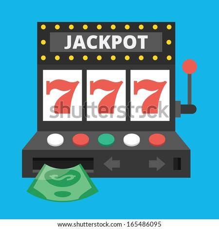 Vector Slot Machine Icon - stock vector