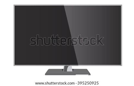 Vector Smart tv, modern monitor, computer on a white background. Smart TV Mock-up, Vector TV Screen, LED TV. - stock vector