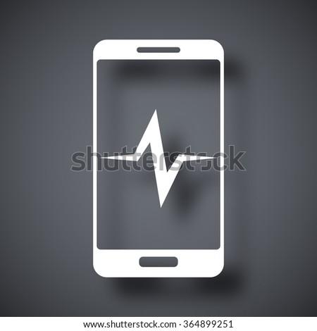 Vector smartphone diagnostics icon - stock vector